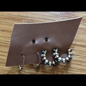 NEW Free People Gold Earrings Set